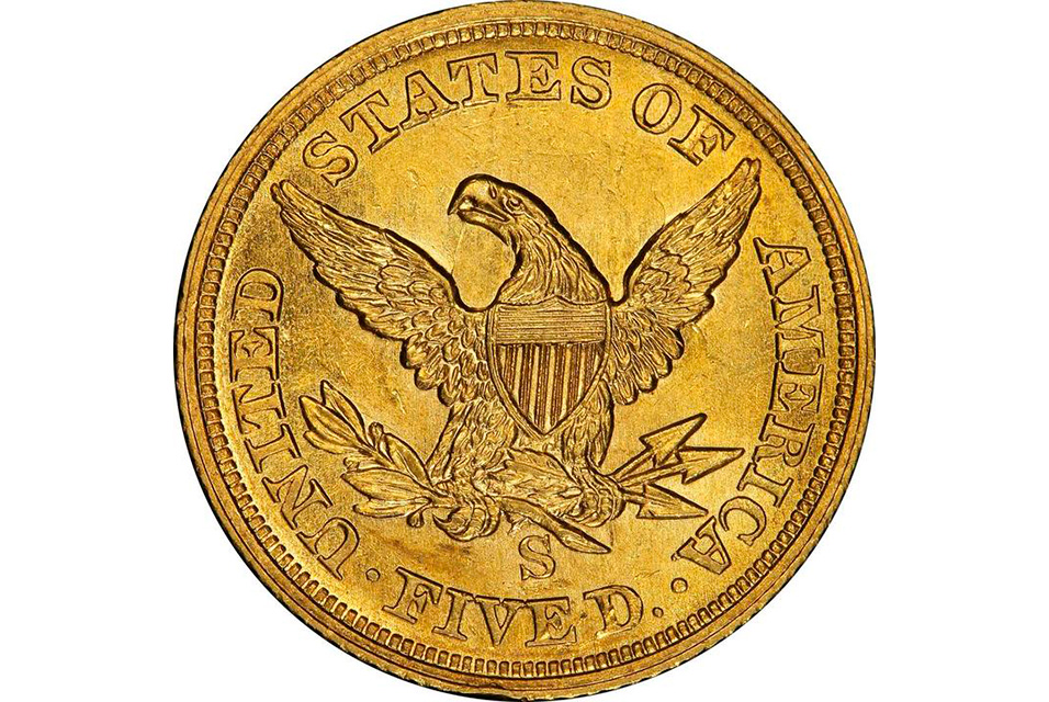 1854-S Half Eagle, which sold for $1.92 million.