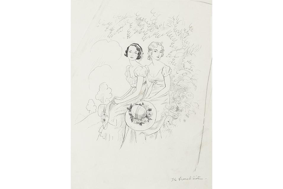 Cecil Beaton (British, 1904-1980), The French Sisters. Estimate: £1,000-1,500. Photo: Bonhams.