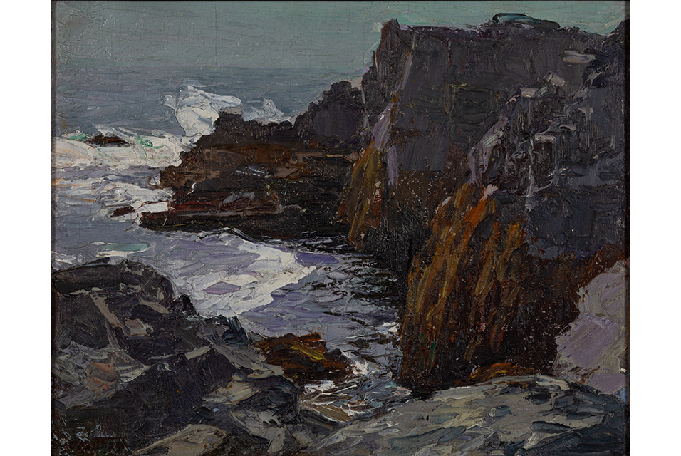 Edward Henry Potthast diminutive coastal landscape, Lot 2136, $6,435.