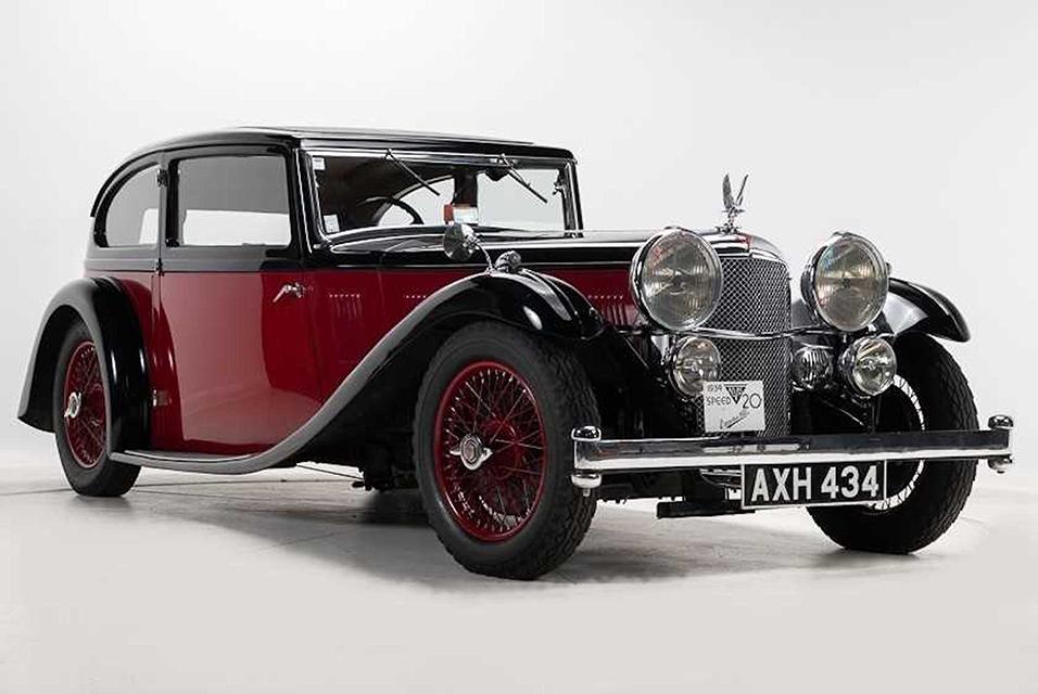 1934 Alvis Speed 20 SB Vanden Plas Two-Door Saloon sold to a UK collector for £103,500.