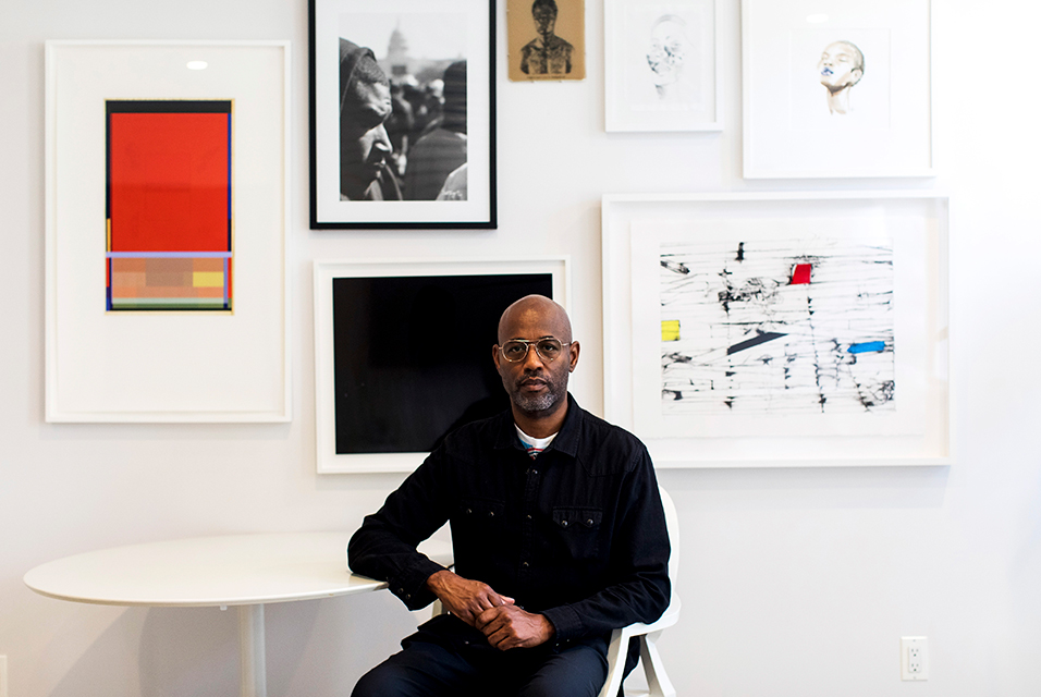 Lewis Long, of the Long Gallery in Harlem, at his apartment in New York, June 17, 2020. As Art Basel opens online, African-American galleries are glaringly absent. Demetrius Freeman/The New York Times.