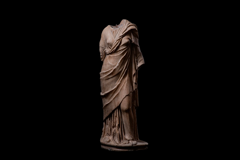 Roman statue of a draped goddess, 1st century BC- 1st century AD. Marble. Height 70cm.