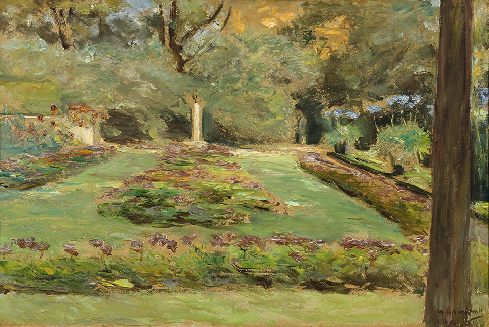 A view by Max Liebermann of his garden at Wannsee (lot 3115) nearly doubled its pre-sale estimate to sell for CHF 488 000.