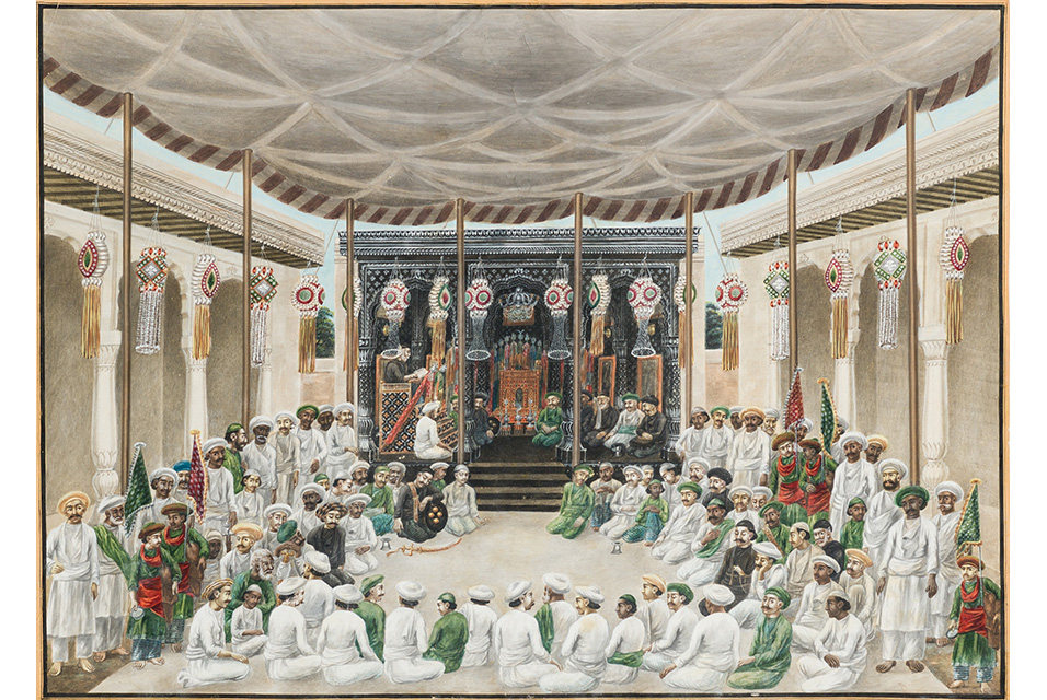 'Prayers and Recitations at the Muharram Festival', Circa of Sewak Ram. Patna, India, circa 1820-30. Estimate: £5,000-£7,000.