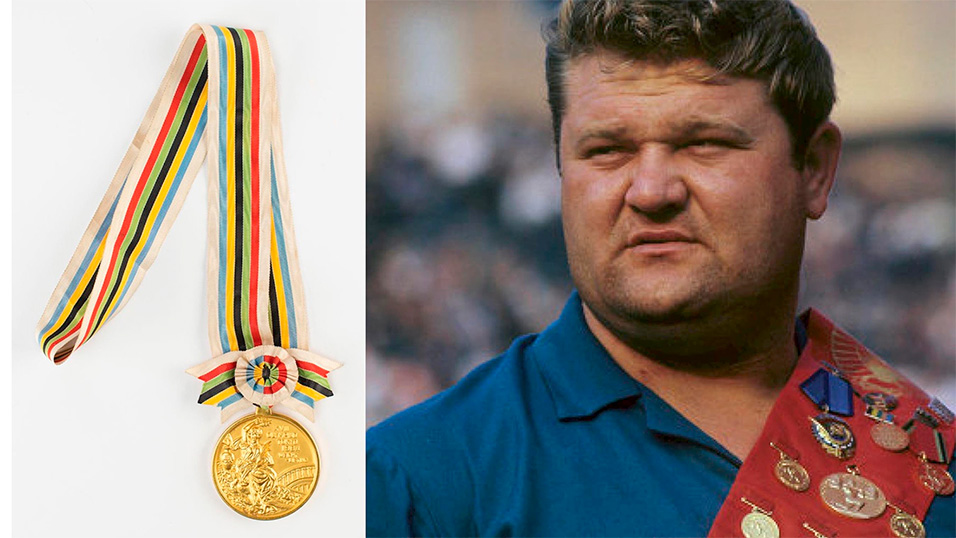 Among featured lots is an extremely rare winner's medal issued to legendary Ukrainian weightlifter Leonid Zhabotinsky at the Tokyo 1964 Summer Olympics will be auctioned by Boston-based RR Auction.