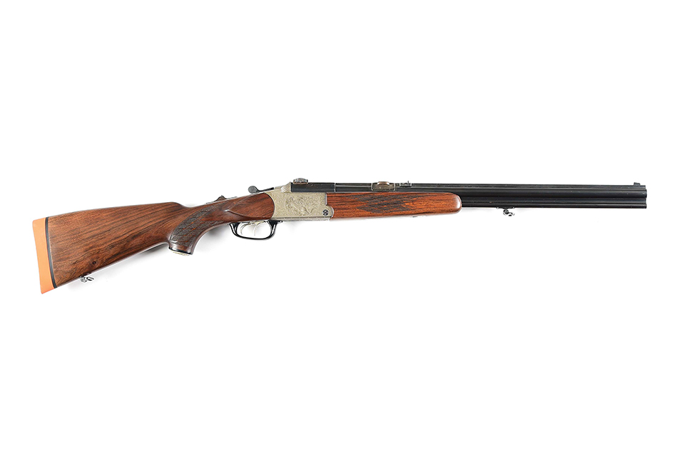 German Blaser over/under shotgun/rifle B95 combination gun with case and additional barrel set. Two Zeiss Diavari-Z scopes. Estimate $5,000-$8,000.