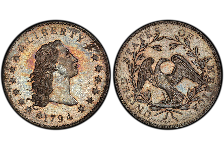 Believed by experts to be the first silver dollar ever made by U.S. Mint in 1794.
