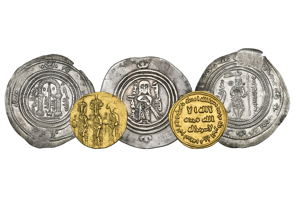 5 Highly Important Rare Islamic Coins.