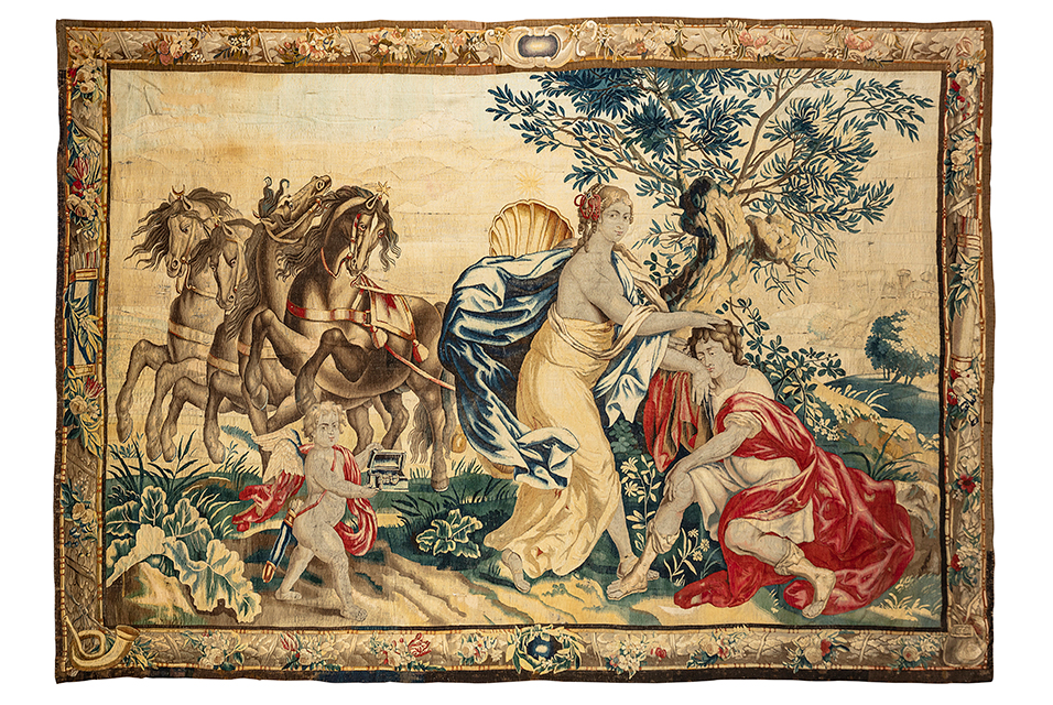 Flemish Mythological Tapestry of Dido and Aenaes. Estimate: £6000 - 8000 + fees. Photo: Lyon & Turnbull.