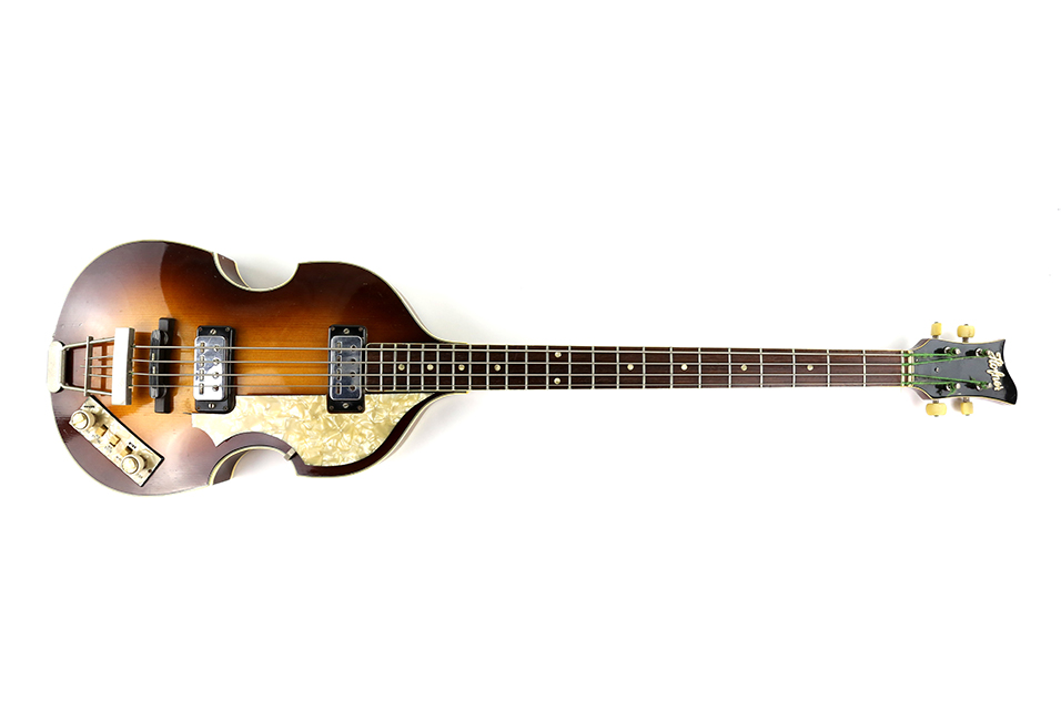 A Hofner 500/1 violin bass guitar dating to 1965 made £1,300.