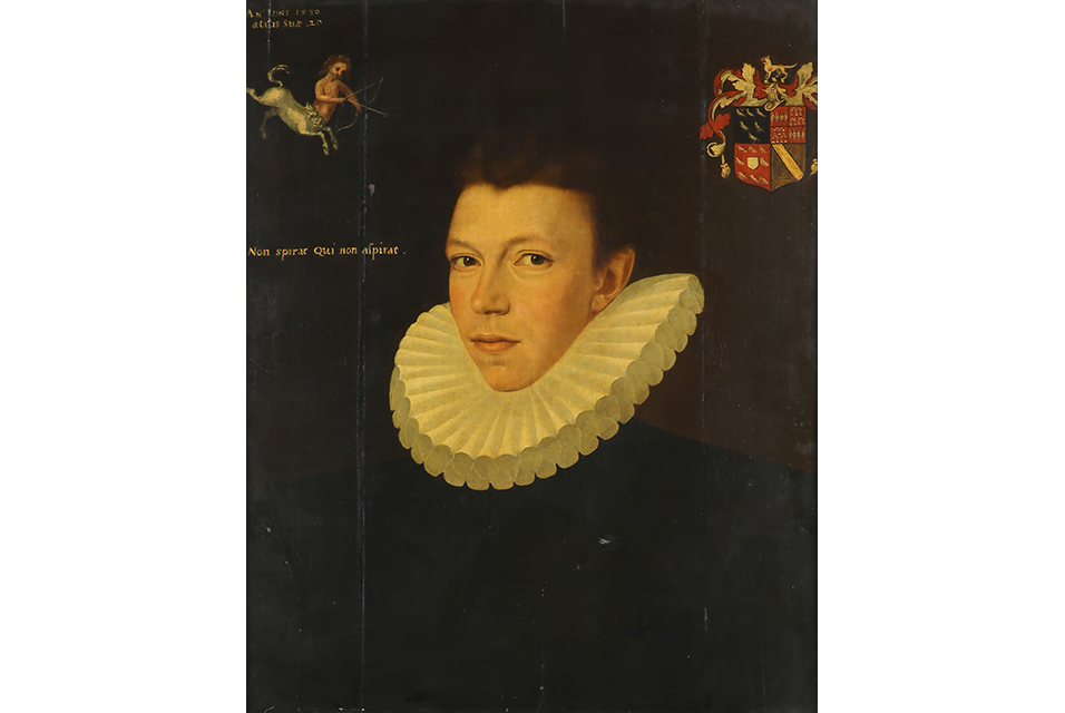 Portrait of Thomas Arundell, 1st Baron Arundell of Wardour, (1560-1639) consigned from Exbury House with an estimate of £10,000-15,000. Painted by George Gower (c.1540-96), the 23¾ x 20in oil on panel is inscribed for 1580, when the sitter would have been aged 20.