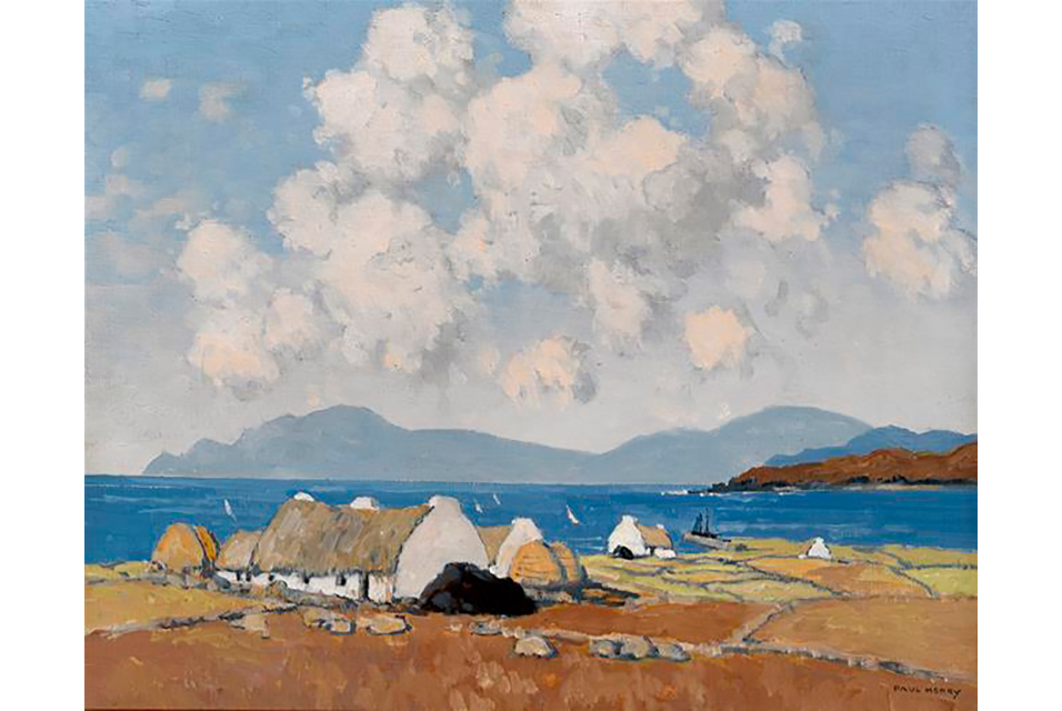 Paul Henry, A Sunny Day, Connemara, c.1940. Estimate: €150,000-€200,000.