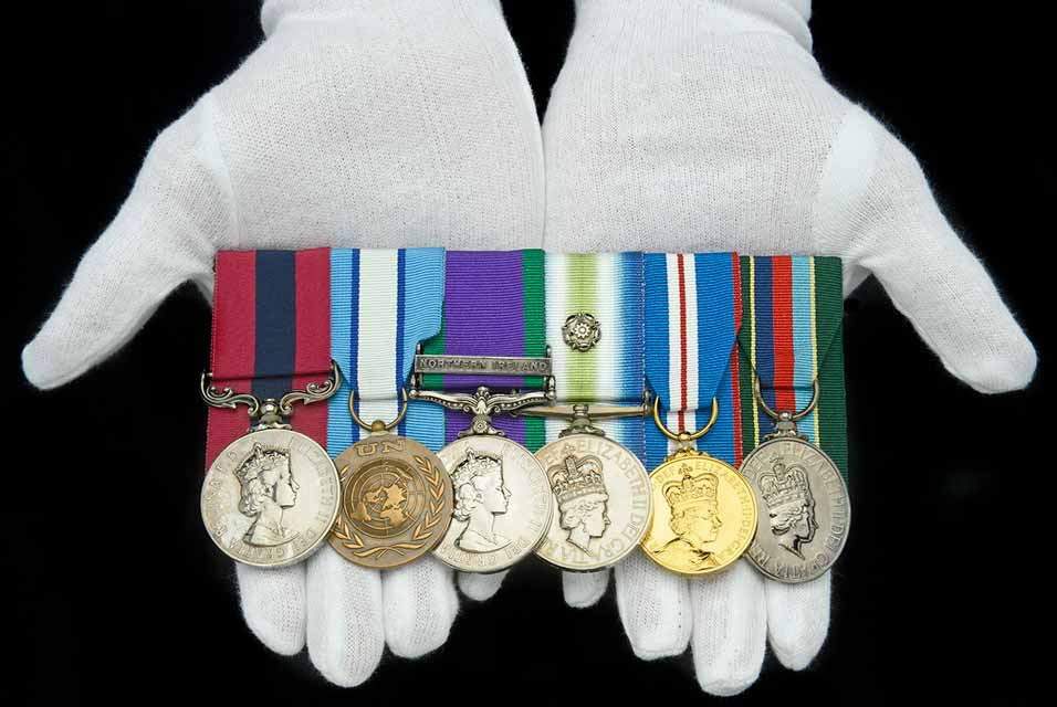 Falklands War D.C.M. group of six medals.