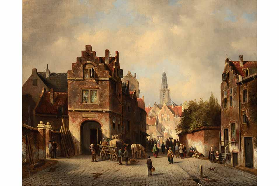 Jacques Francois Carabain (1834-1933), Street Scene. Signed and dated l.l. J. Carabain f 58, oil on canvas, 74 x 92 cm / 29 x 36 in. Estimate: £2,000 - £2,500.