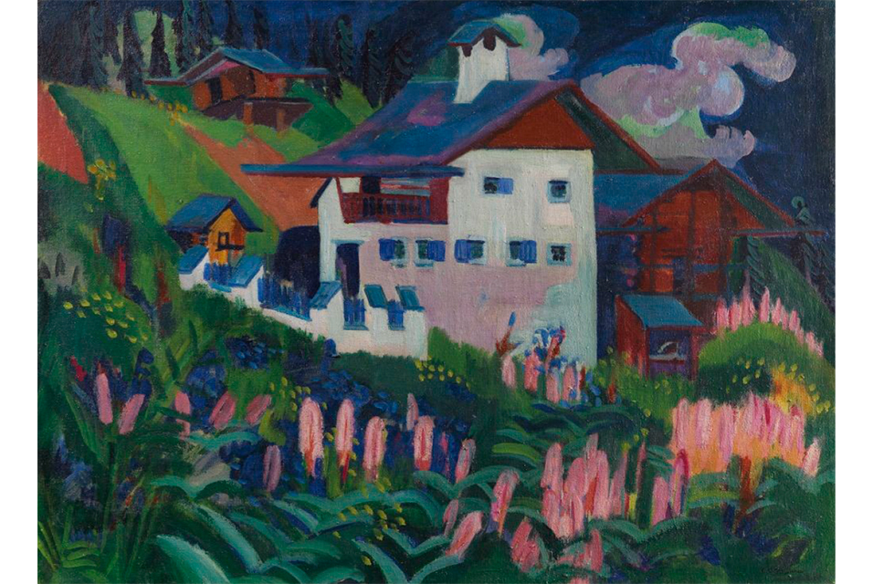 Ernst Ludwig Kirchner, Unser Haus, 1918-1922. Oil on canvas, 91 x 120 cm / 35.8 x 47.4 inches. Estimate: € 500,000-700,000 / US$ 550,000-770,000.