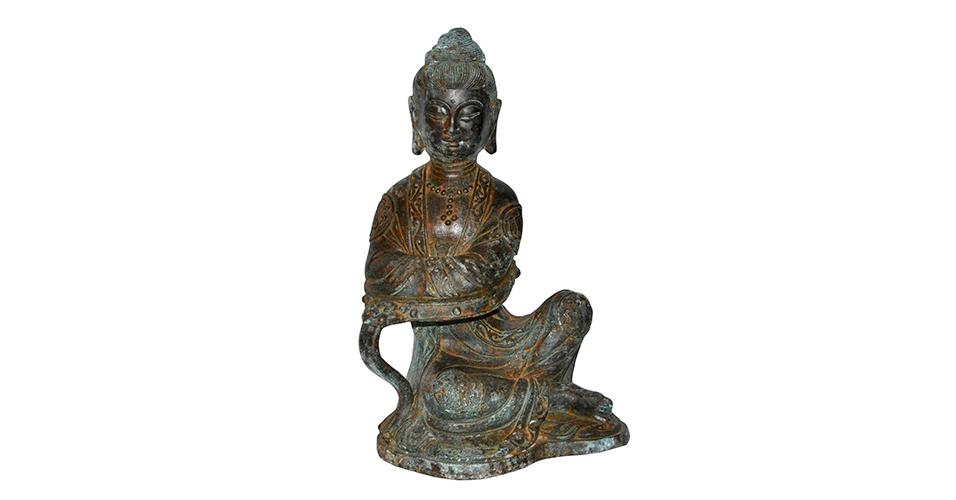 Lot 43 Ming, Yongle, A Rare Bronze Figure Guanyin