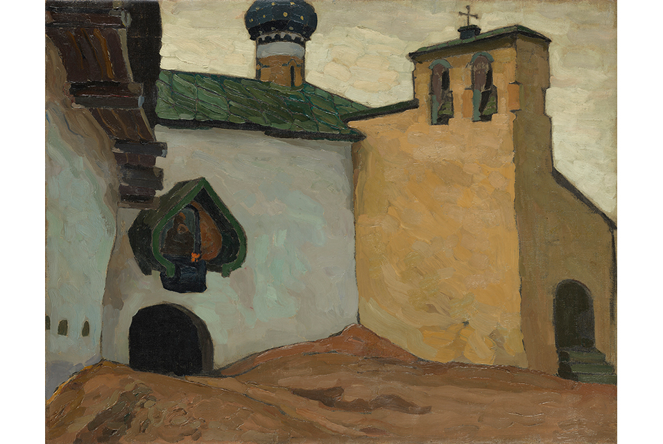Nicholas Roerich, Pechory Monastery, Internal Exit from the Old Belfry.