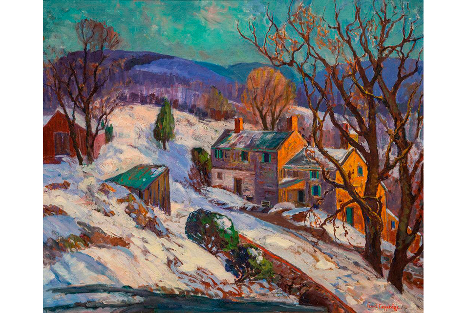 Fern I. Coppedge (1883-1951), Winter Landscape Near New Hope, n.d. Oil on canvas. 25 x 30 inches. Gift of David and Nancy Barclay.
