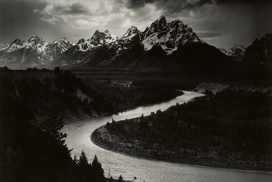 Ansel Adams, The Grand Tetons and the Snake River, Grand Teton National Park, Wyoming. Estimate $400/600,000. Sold for $988,000. Courtesy Sotheby's.