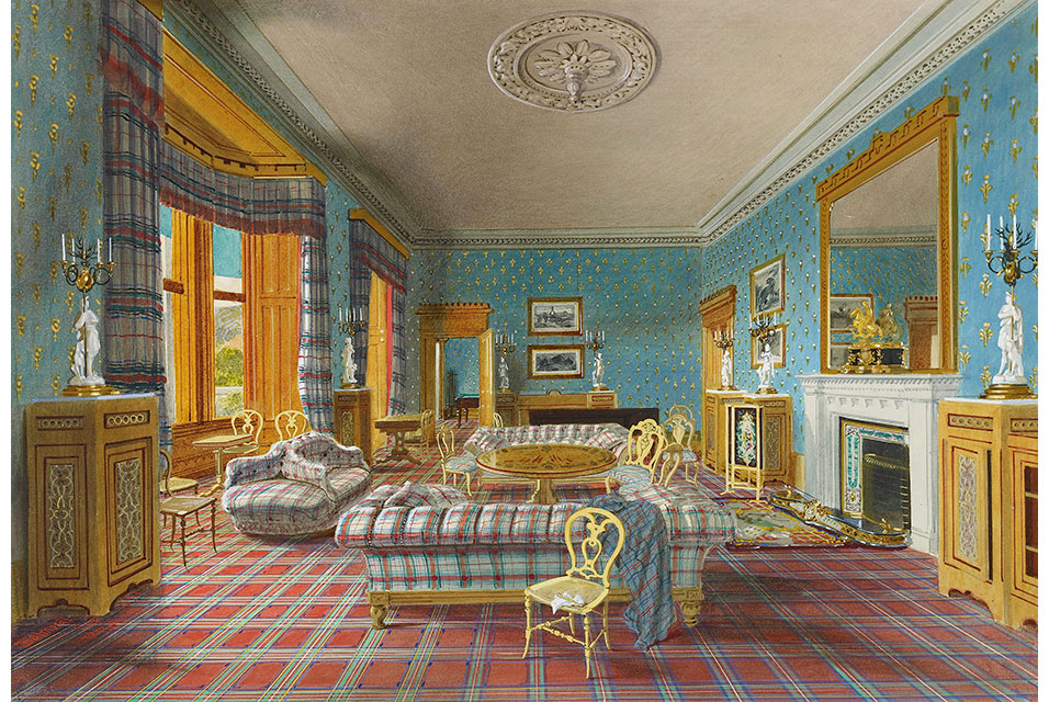 James Roberts, The Drawing Room, Balmoral, 1857. Royal Collection Trust/ © Her Majesty Queen Elizabeth II 2020.