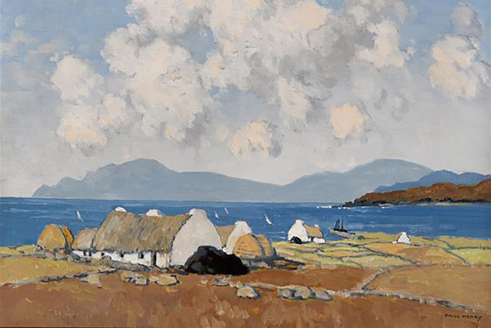 Paul Henry's A Sunny Day Connemara set a new world record of €420,000.