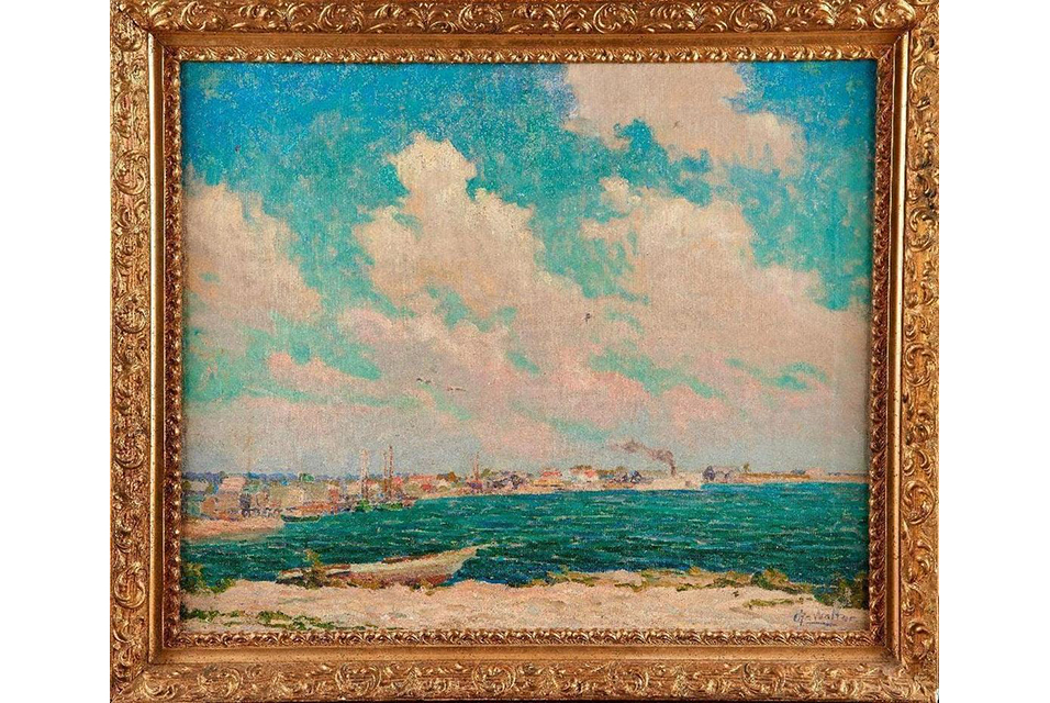 Christian Walter (American, 1872-1938), Coastal Scene. Oil on canvas. Estimate: $1,500 - $2,500.