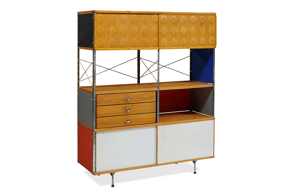 Charles and Ray Eames for Herman Miller, ESU-421-C storage unit. Sold for $13,750.