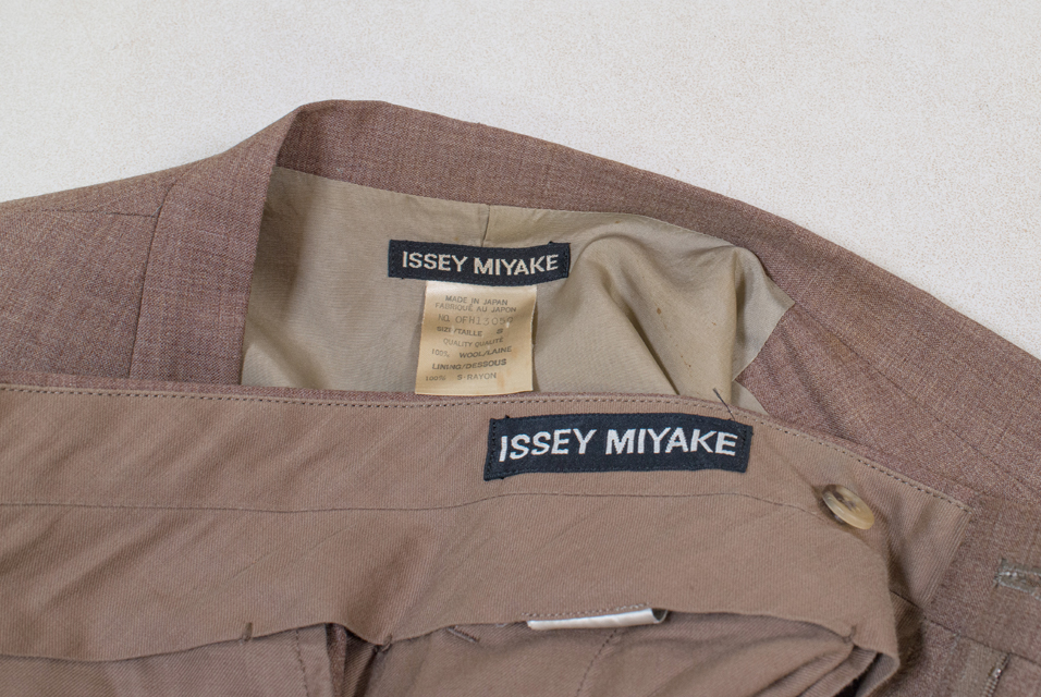 An Issey Miyake two piece suit.
