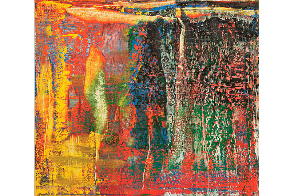 Gerhard Richter, Abstraktes Bild (940-7), 2015. Oil on canvas, 140x160 cm. Estimate: HK$ 75,000,000 – 95,000,000. Image courtesy of Phillips.