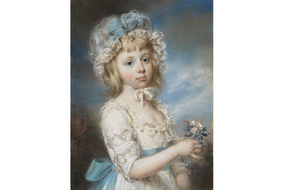 John Russell, Portrait of Lady Georgiana Cavendish (1783–1858), later Countess of Carlisle, at the age of six, 1790. Pastel on paper. NMB 2781. Photo: Cecilia Heisser/Nationalmuseum.